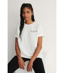 na-kd ekologisk oversize t-shirt med rund hals - white