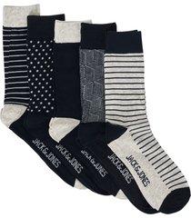strumpor jaclight grey sock 5-pack