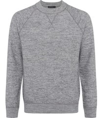 men's french connection men's luxe wool & cotton crewneck sweatshirt, size x-large - grey