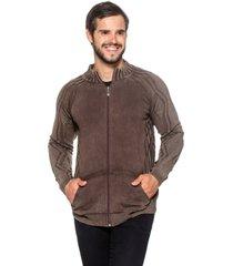 jaqueta  officina do tricô austrália marrom - kanui