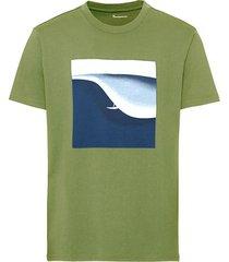 t-shirt met digitale opdruk van bio-katoen, pistache l