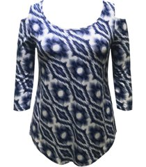 jm collection diamond tie-dyed top, created for macy's