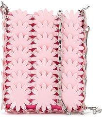 paco rabanne flower sequin shoulder bag - pink