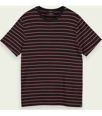 scotch & soda t-shirt met korte mouwen van een bamboemix met stretch