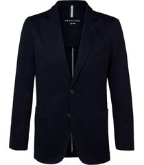 profuomo jacket knit jersey navy