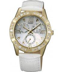 reloj casual blanco orient