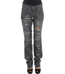 torn straight fit jeans