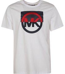 michael kors logo embroidered t-shirt