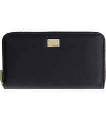 dolce & gabbana leather zip around wallet