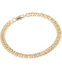 mens metallic gold chain bracelet*