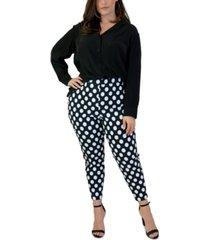 maree pour toi plus size polka-dot skinny pants