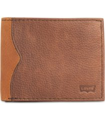 levi's men's robert rfid traveler wallet