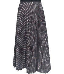 miu miu pleated flared skirt