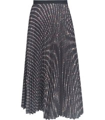 miu miu pleated flared skirt