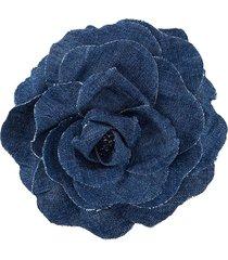 philosophy di lorenzo serafini denim floral brooch - blue