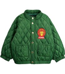 diamond quilted jacket bomberjack groen mini rodini