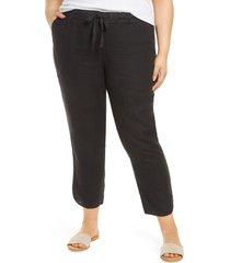 plus size women's caslon track style linen pants, size 3x