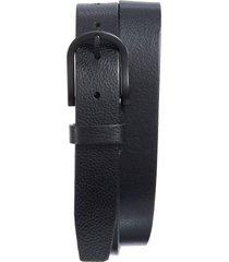men's bosca heavyweight leather belt, size 34 - black