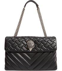 kurt geiger london extra extra large kensington leather shoulder bag - black