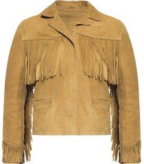 mina fringed jacket