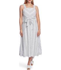 women's vince camuto surfboard stripe sleeveless linen & cotton blend dress