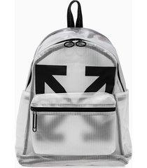 off-white arrow pvc backpack omnb029e20pla001