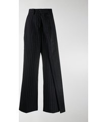 sacai striped crossover trousers