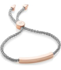 rose gold linear friendship bracelet