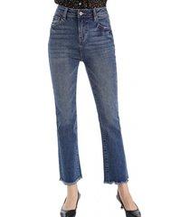 jeans básico mini flecos azul nicopoly