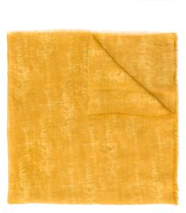 altea frayed-edged camouflage scarf - yellow