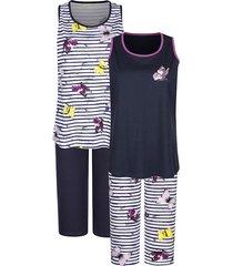 pyjama's per 2 stuks harmony wit::marine::fuchsia