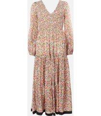 rixo women's brooke maxi dress - retro micro floral - l