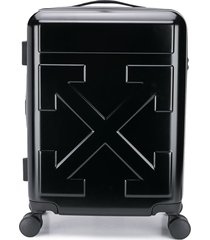 off-white quote wheels suitcase - black