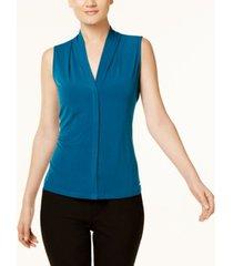 calvin klein pleated blouse