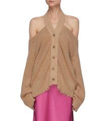'hee' cold shoulder knit cardigan