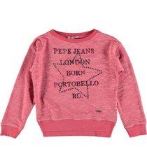 pepe jeans koraalroze sweater