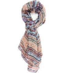 lenço bijoulux retangular étnico colorido