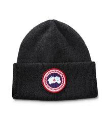 canada goose arctic disc merino wool toque beanie in black at nordstrom