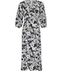jurk thessa jaline donkerblauw multi