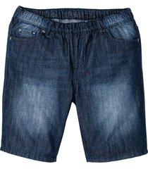 bermuda in jeans con elastico in vita regular fit (blu) - john baner jeanswear