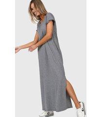 vestido gris chelsea market freesia largo