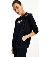 tommy hilfiger women's logo tape hoodie desert sky - m