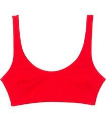 lira bikini top in red coat