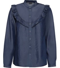 blus med volang, tencel™ lyocell