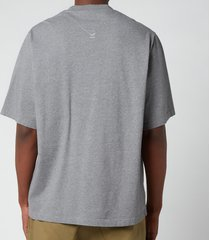 kenzo men's multicolour logo t-shirt - dove grey - xxl