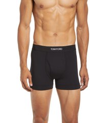 tom ford 2-pack stretch jersey boxer briefs, size x-large in black at nordstrom