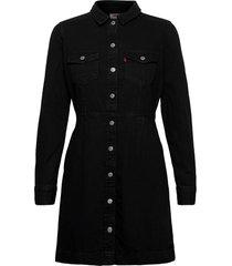 ellie denim dress black book ( korte jurk zwart levi´s women
