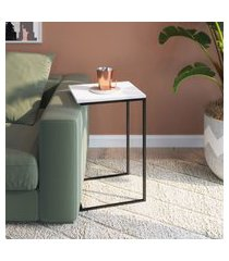 mesa auxiliar multifuncional apoio preto fosco lilies móveis