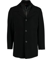 bos bright blue geke coat 19301ge02bo/990 black