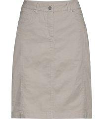 casual skirt knälång kjol beige brandtex
